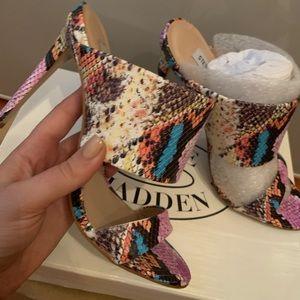 Steve Madden 'Mallory' snake stiletto sandals